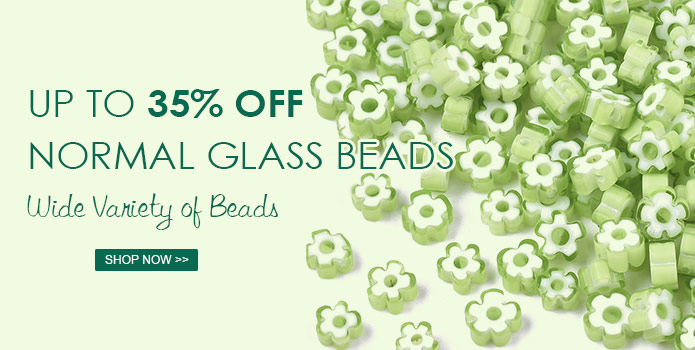 Up to 35% OFF Normal Glass Beads