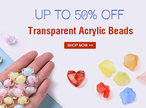 Up to 50% OFF Transparent Beads