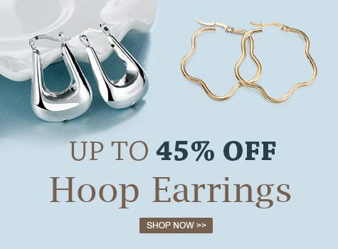 Up to 45% OFF Hoop Earrings